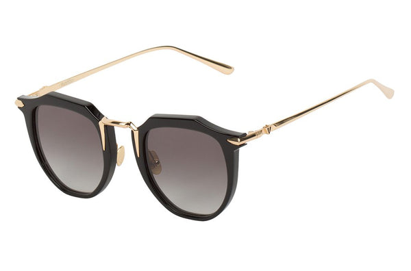 Valley Eyewear | Chateau | Gloss Black w/Gold Titanium/Black Gradient Lens