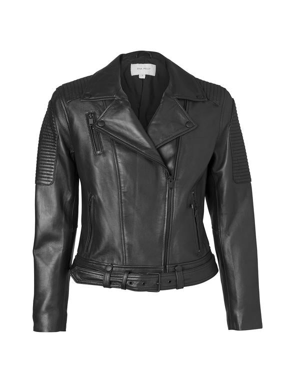 ENA PELLY | Classic Biker Jacket (Black/Black)