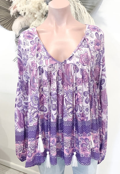 Peace Blouse Songbird Lilac