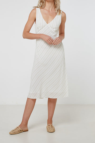 Elka Collective | Luna Dress Tan Stripe
