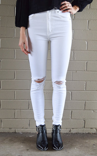 Marilyn Skinny - Busted White