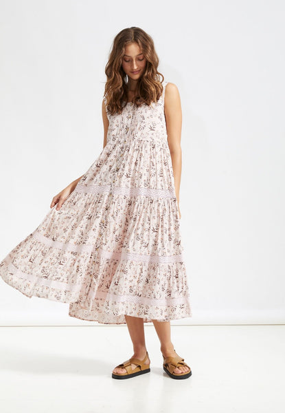 Saint Helena | Moonstone Day Dress - Pink Salt Floral