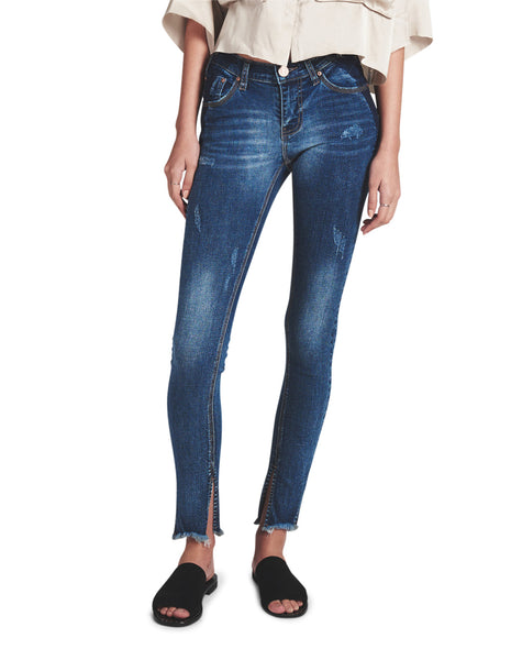 One Teaspoon | Superstar Blue Hoodlums Mid Rise Skinny Jean