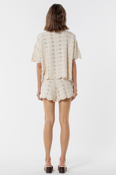 Saint Helena | Scarborough Knitted Short Eggshell