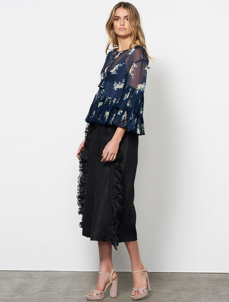 Stevie May | Midnight Blooms L/S Top