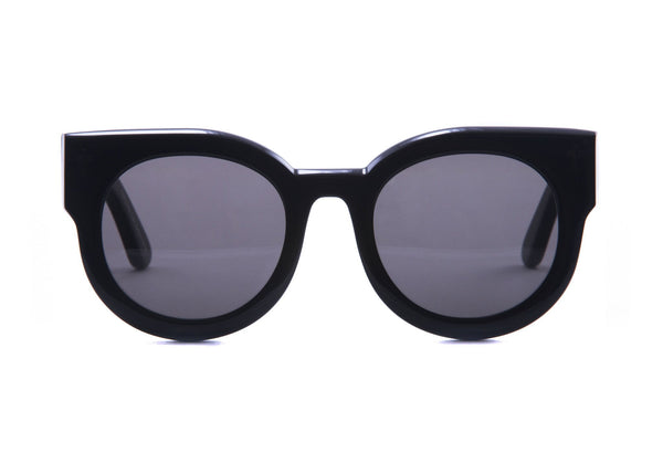 Valley Eyewear | A Dead Coffin Club | Gloss Black / Black Lens
