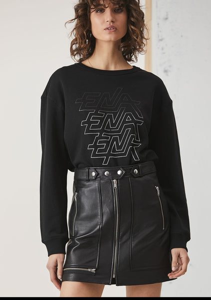 Ena Pelly | Lightening Black Graphic Sweatshirt