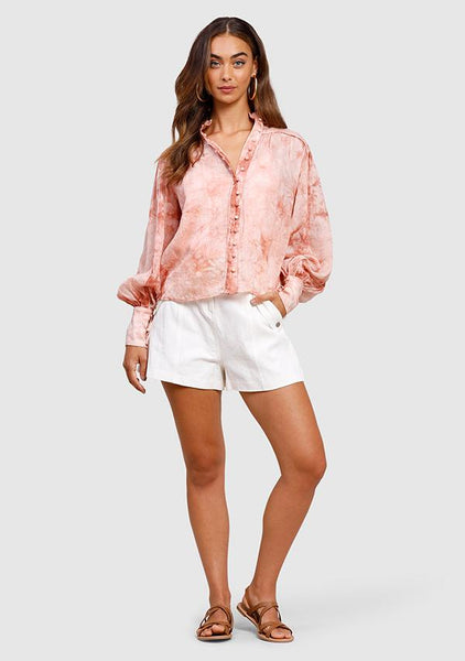 Ministry Of Style | Staycation High Tide Blouse Rose