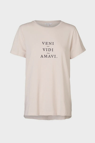 Elka Collective | Veni Vidi Amavi Graphic Tee Dusty Pink