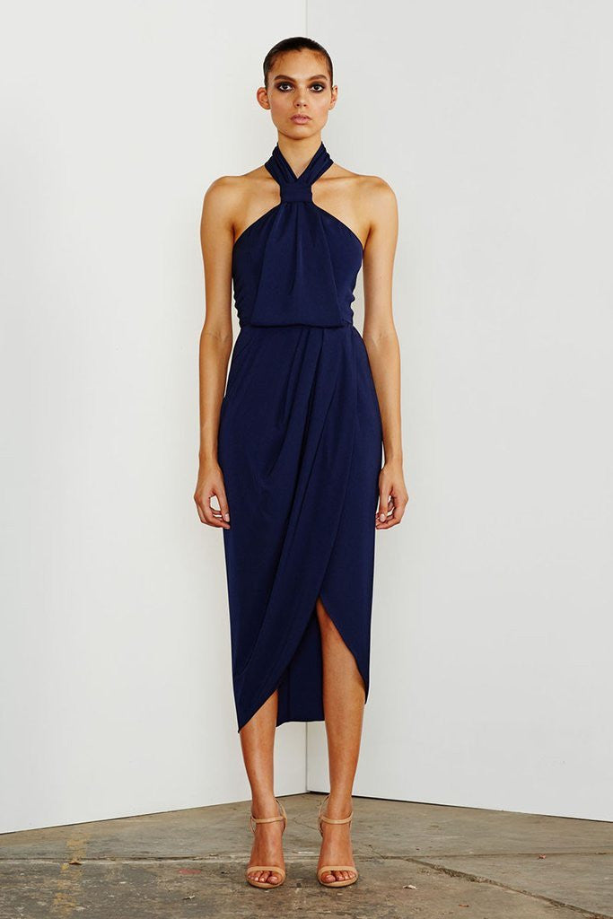 Shona Joy - Core knot Draped Dress