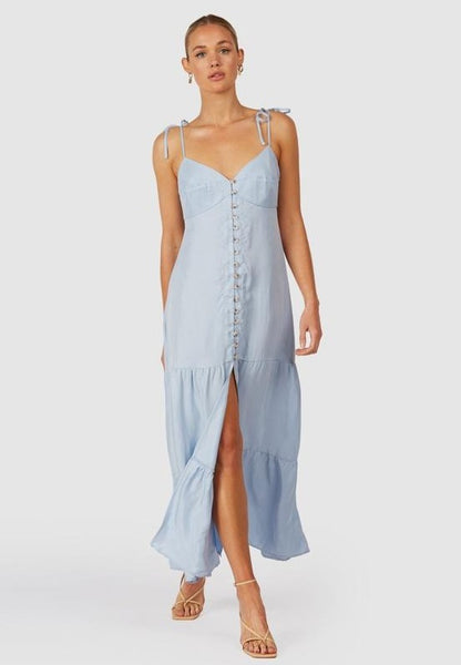 The Wolf Gang | Farah Maxi Dress - Blue