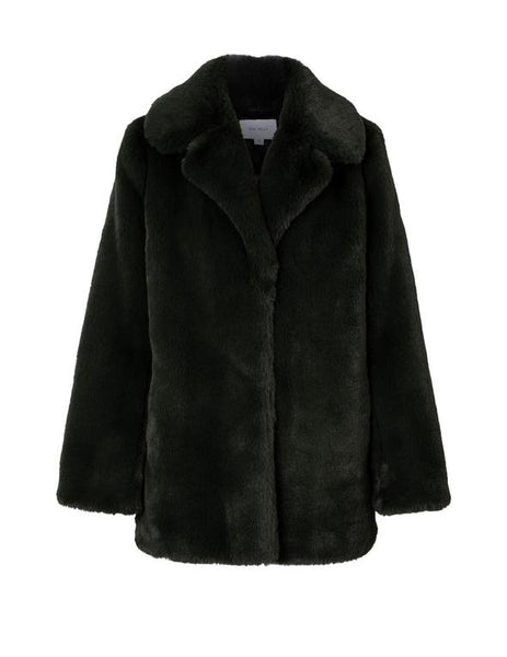 ENA PELLY | Minimalist Fur Jacket (Black)