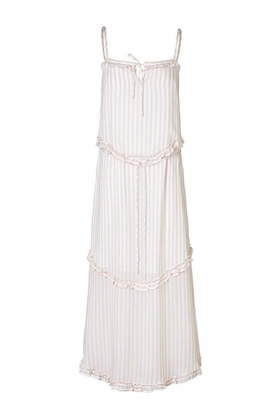 Elka Collective | Radah Dress Tan Stripe