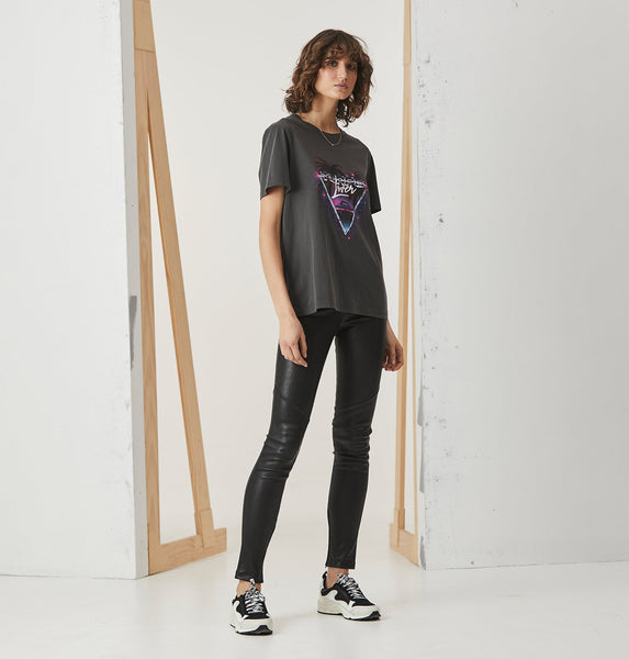 Ena Pelly | LOVER_Faded Black GRAPHIC TEE