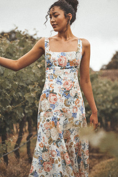 Winona | Flair Midi Dress