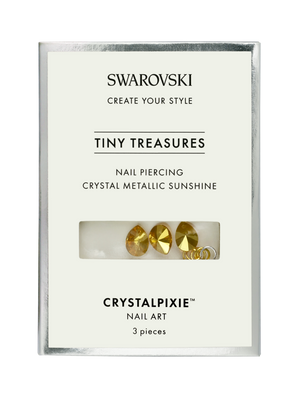 Swarovski Tiny Treasures - Nail Piercing Crystal Metallic Sunshine (Professional Only)