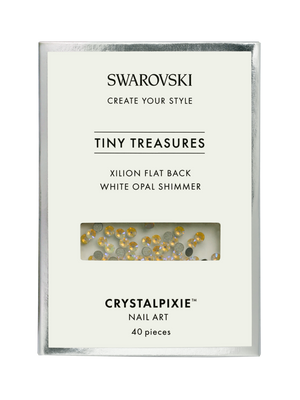 Swarovski Tiny Treasures - Xilion FB White Opal Shimmer
