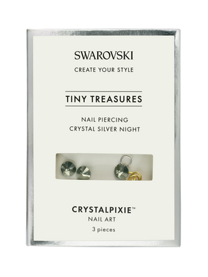 Swarovski Tiny Treasures - Nail Piercing Crystal Silver Night (Professional Only)
