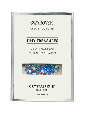 Swarovski Tiny Treasures - Xilion FB Tanzanite Shimmer