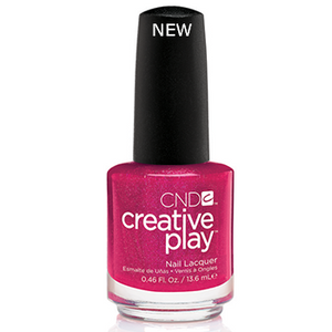 CND CREATIVE PLAY - Cherry-Glo-Round - Micro Glitter Finish