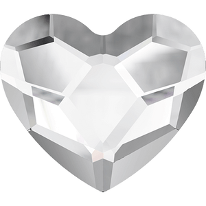 2808 Heart Flat Back - Crystal 6mm (10 Pack)