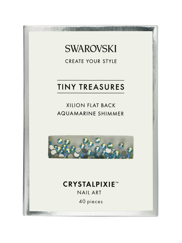 Swarovski Tiny Treasures - Xilion FB Aquamarine Shimmer