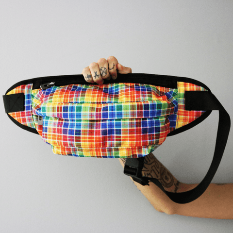 Pride Plaid Crossbody Bag