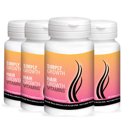 4 Bottles of Simply Growth Hair Vitamins