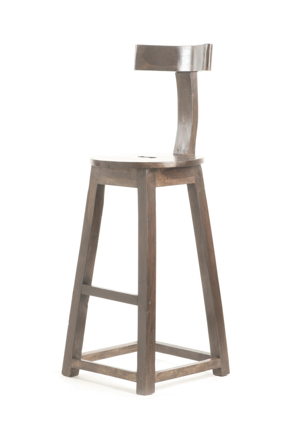 30 Inch Bar Stools Set Of 2 Part - 45: 30 Inch Seat Height Rustic Wooden Bar Stool (Set Of 2)-Bar Stools