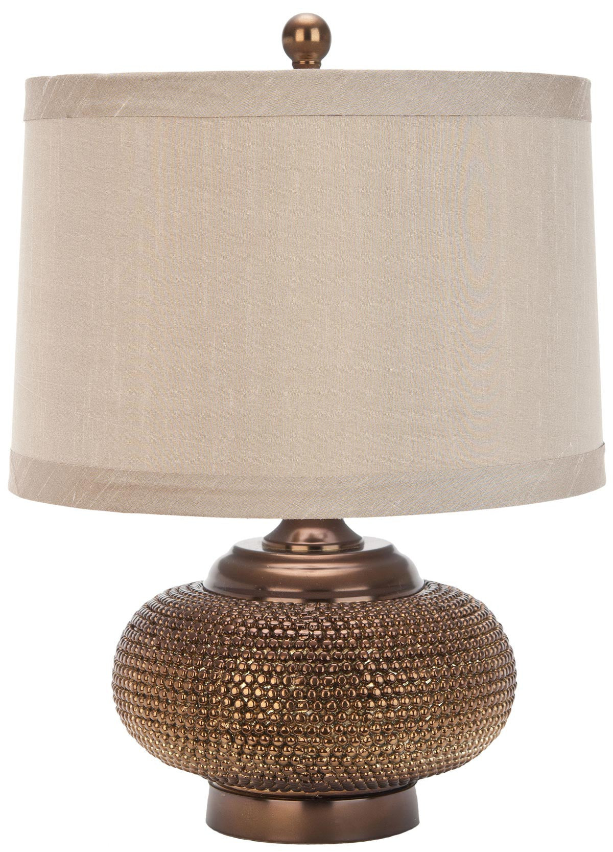Alexis Gold Bead Table Lamp With Taupe Shade Set Of 2