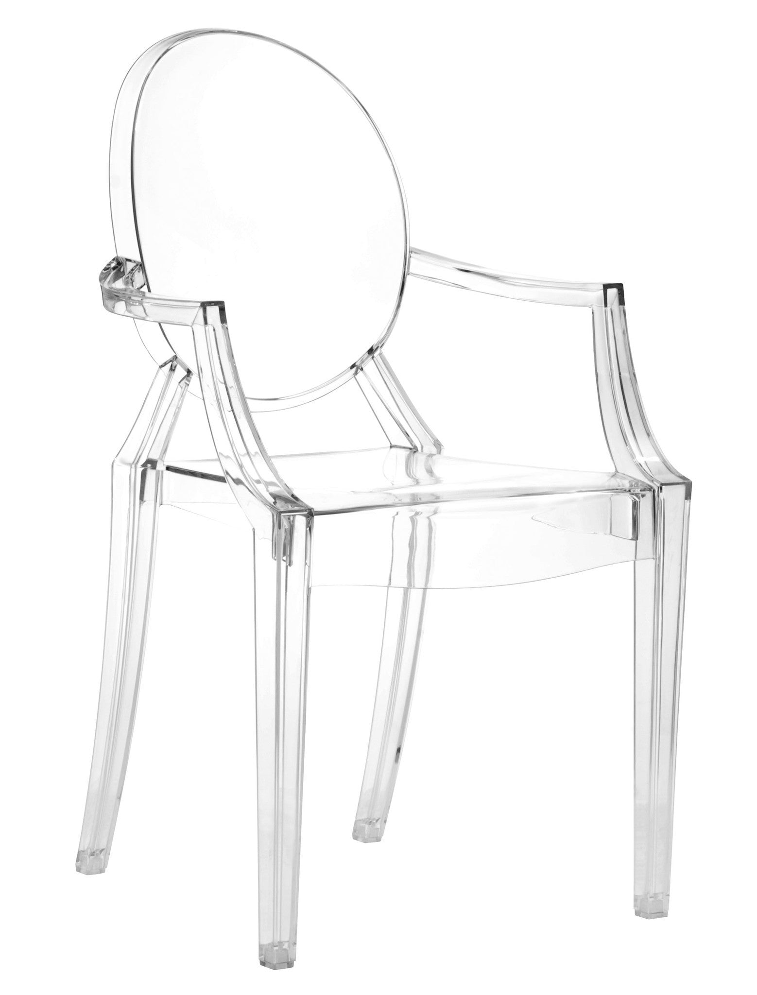 Charming Anime Dining Chair In Transparent Polycarbonate (Set Of 4) Dining Chairs Alan  ...