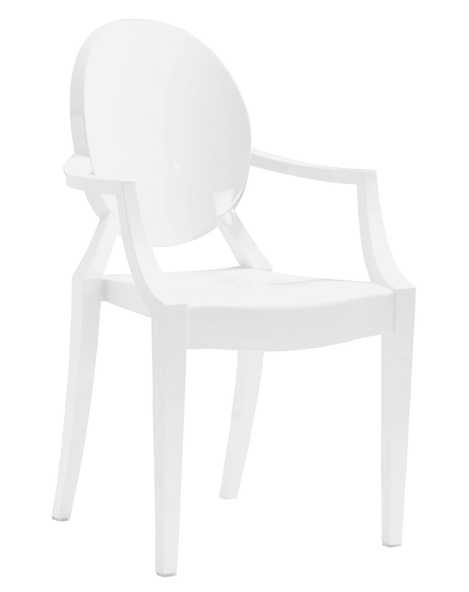 polycarbonate furniture. Anime Dining Chair In White Polycarbonate (Set Of 4)-Dining Chairs-Alan Furniture 9