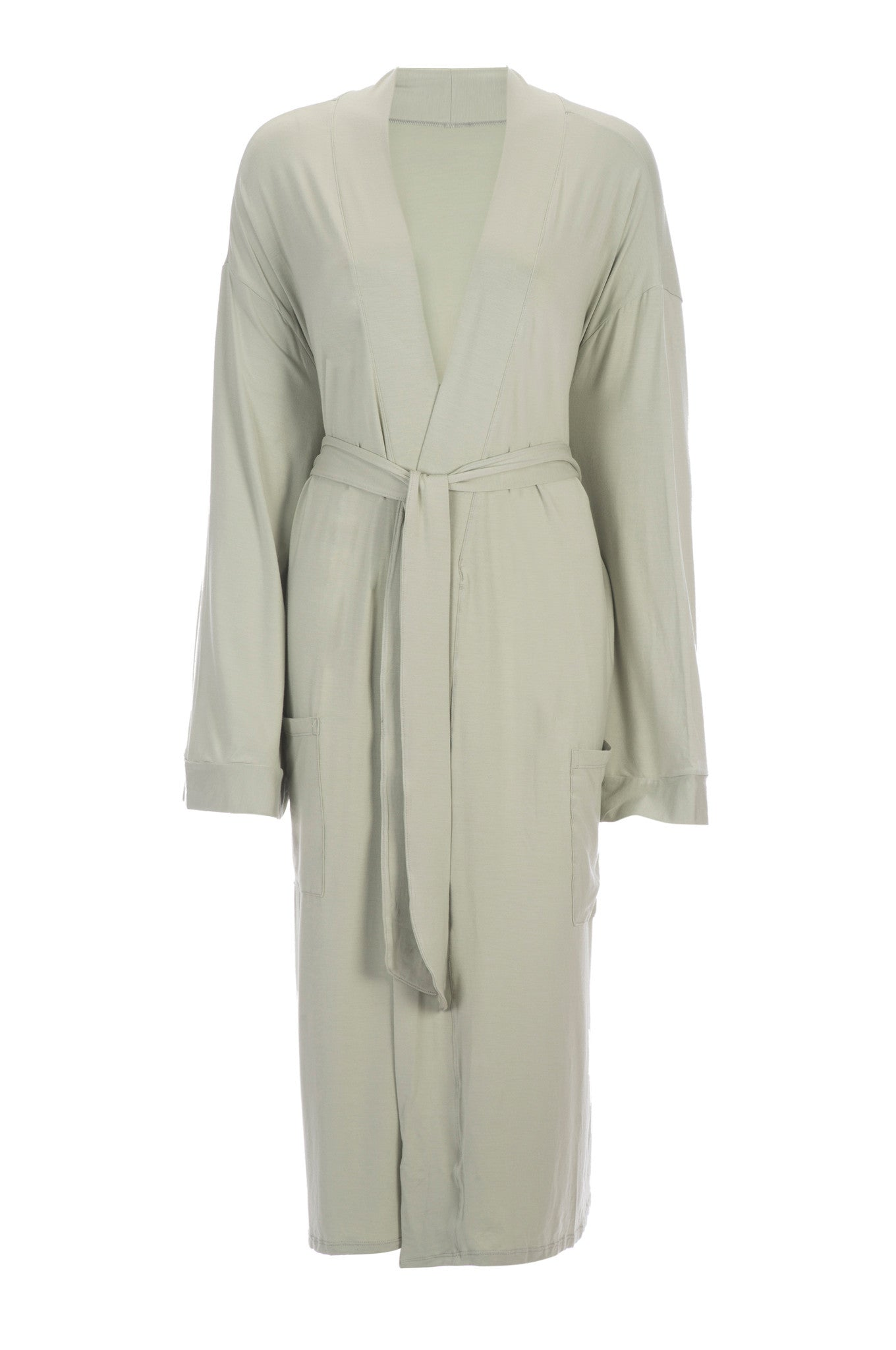 da55809f0d Bamboo Viscose Robe in Tea Green-Bathrobes-Alan Decor
