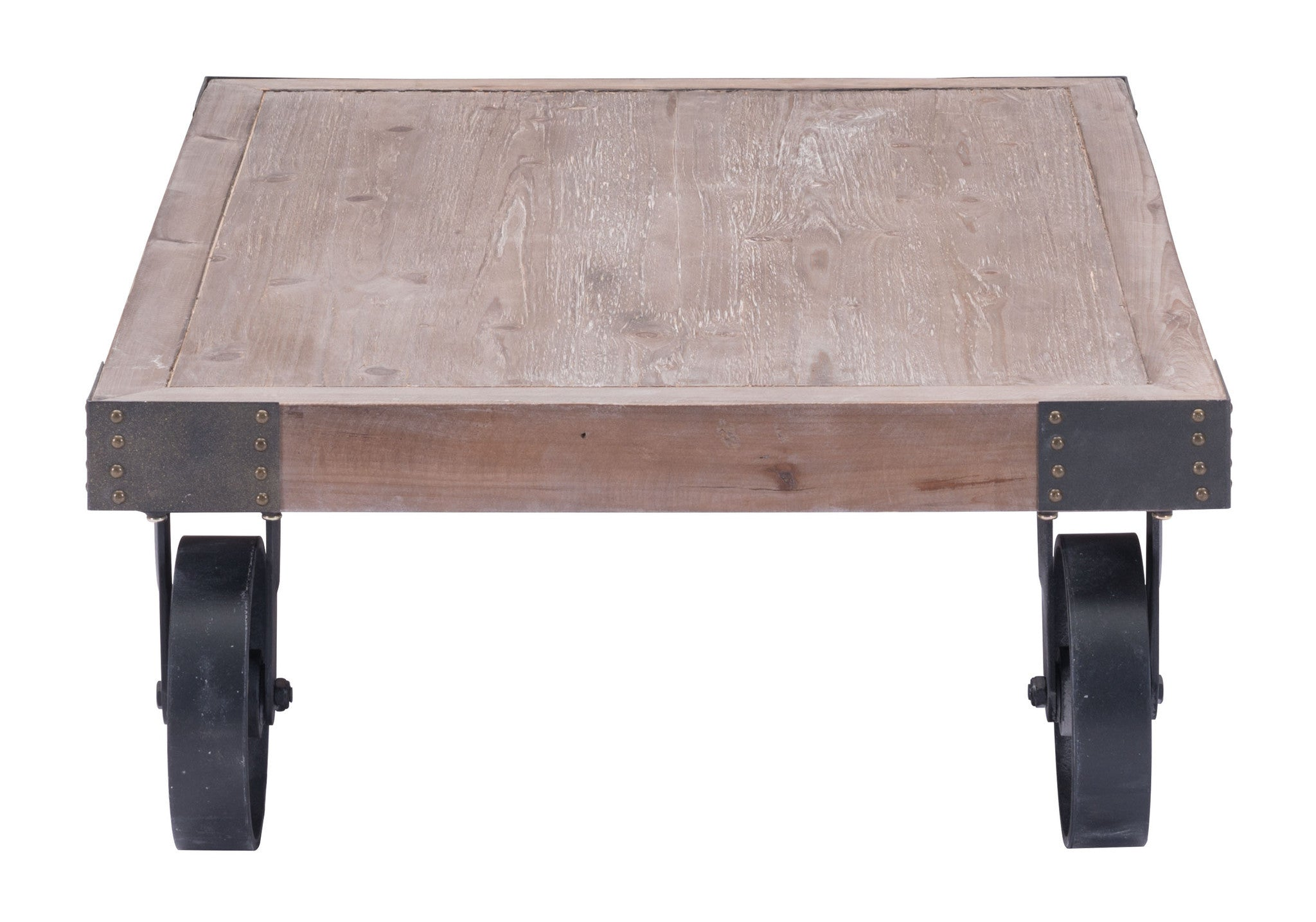 barbary coast cart coffee table in distressed natural fir wood coffee tables alan decor