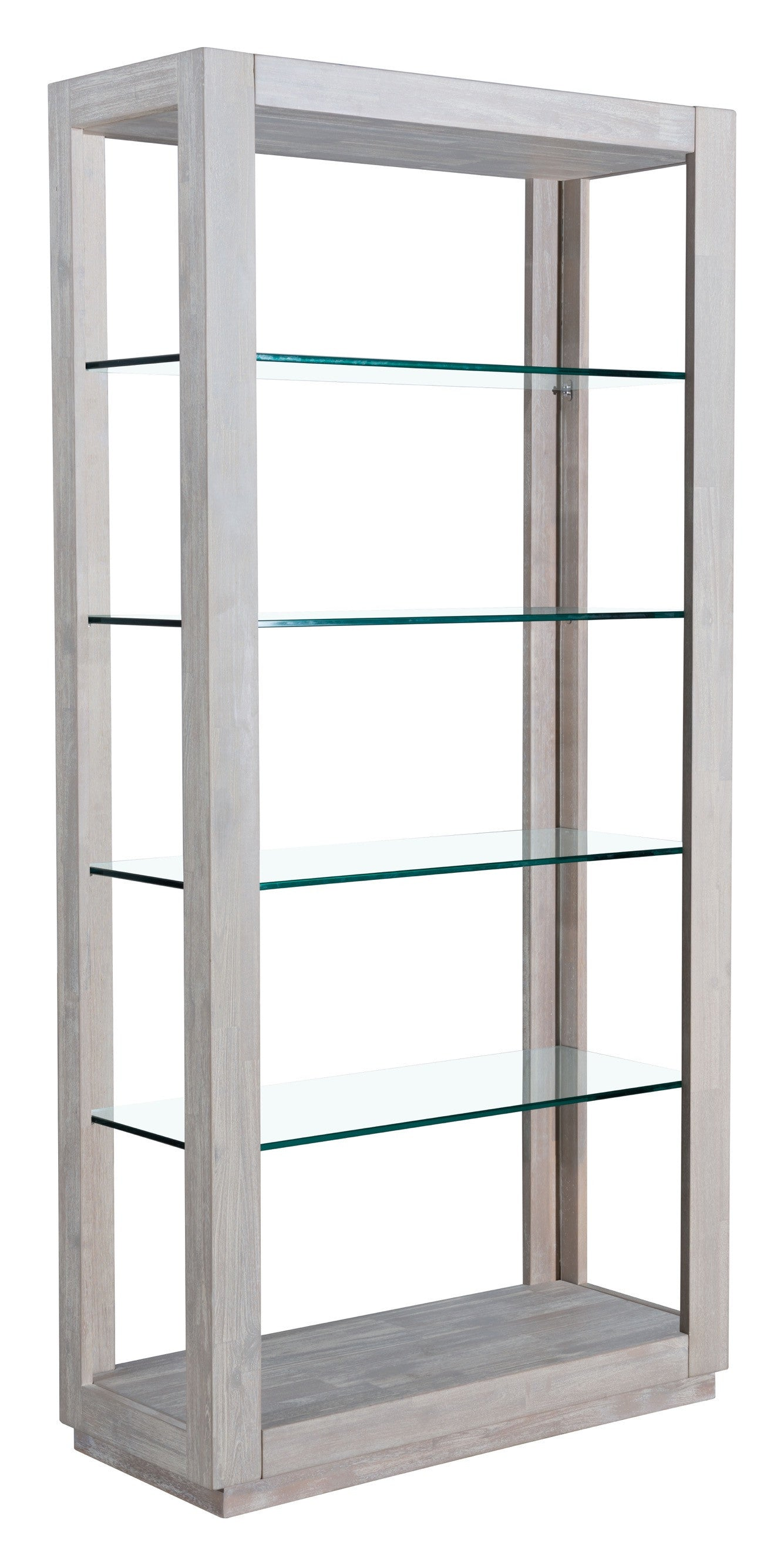 beaumont tall bookcase in sun drenched acacia u0026 tempered decor