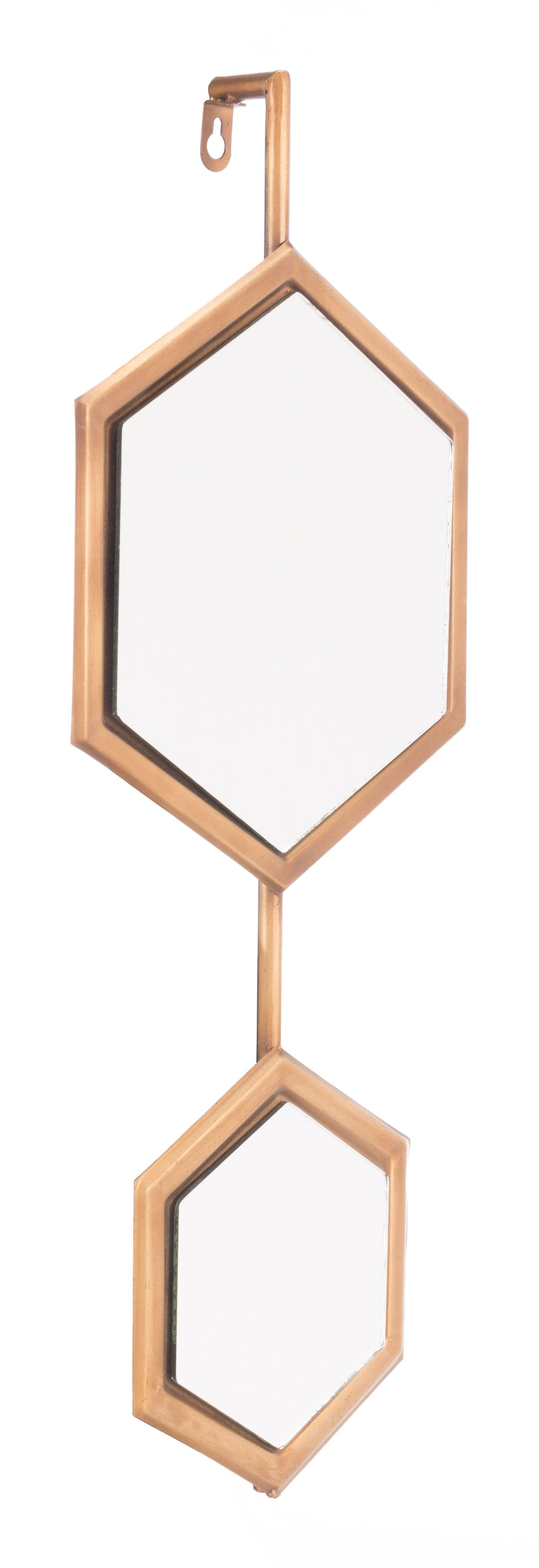 Bee Mirror 1 In Gold (Set Of 2) Wall Decor Alan Decor