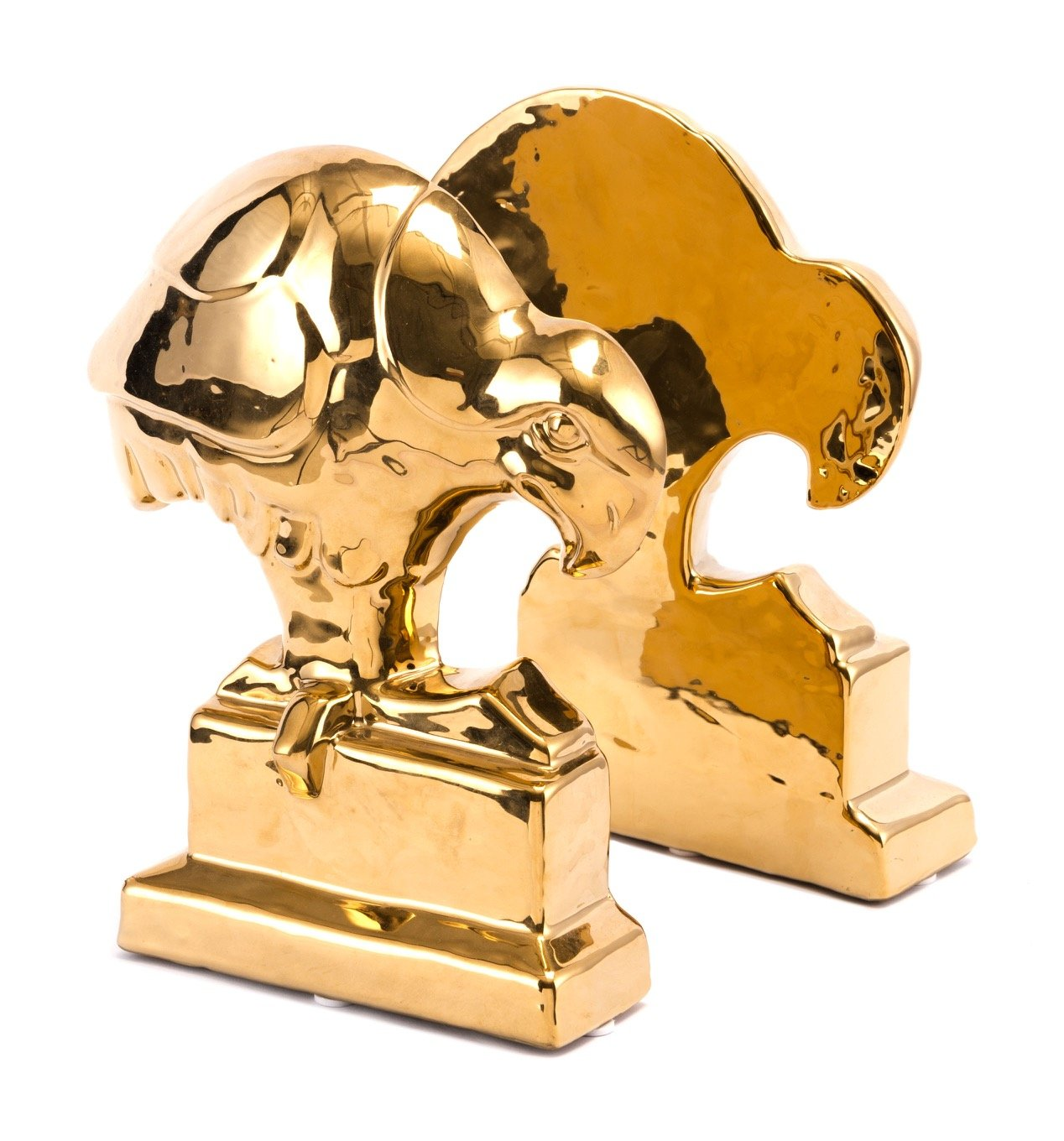 Bird Bookends in Gold (Set of 2)