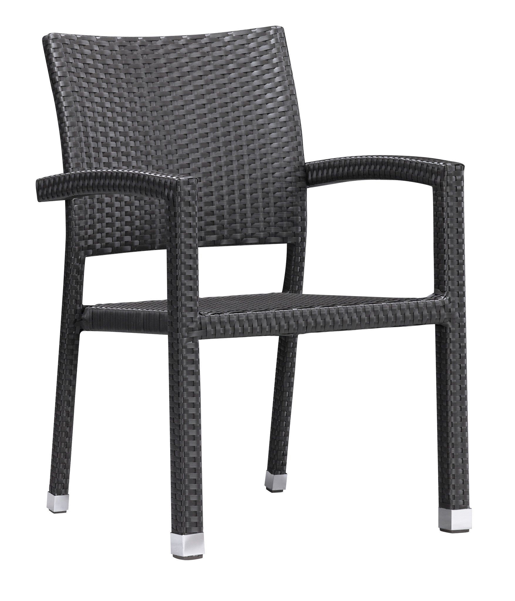 Boracay Patio Dining Chair in Espresso Synthetic Weave Set of 2