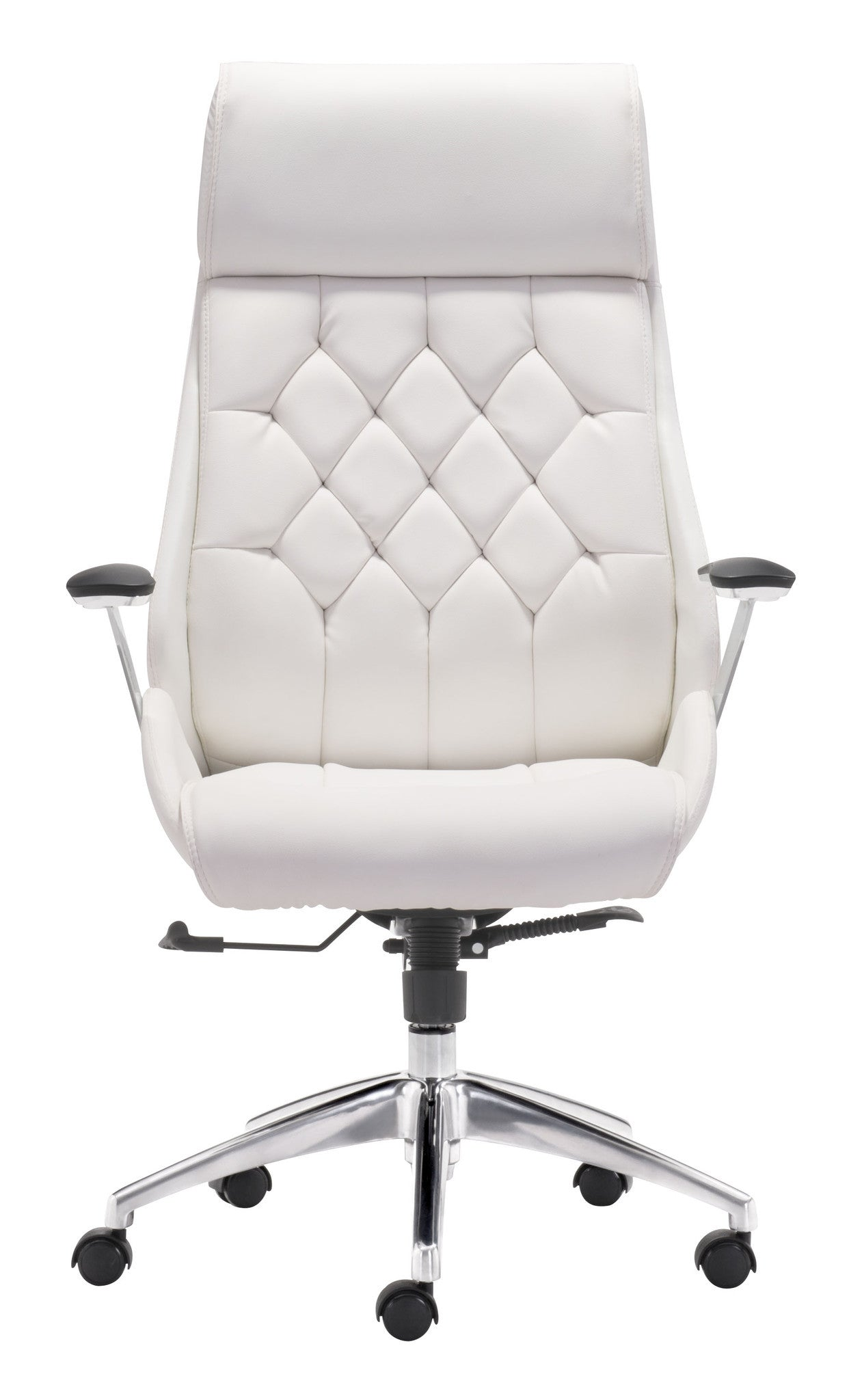 ... Boutique Office Chair in White Tufted Leatherette-Office Chairs-Alan  Decor ... - Modern, Contemporary, Rustic & Industrial Office Chairs Alan Decor
