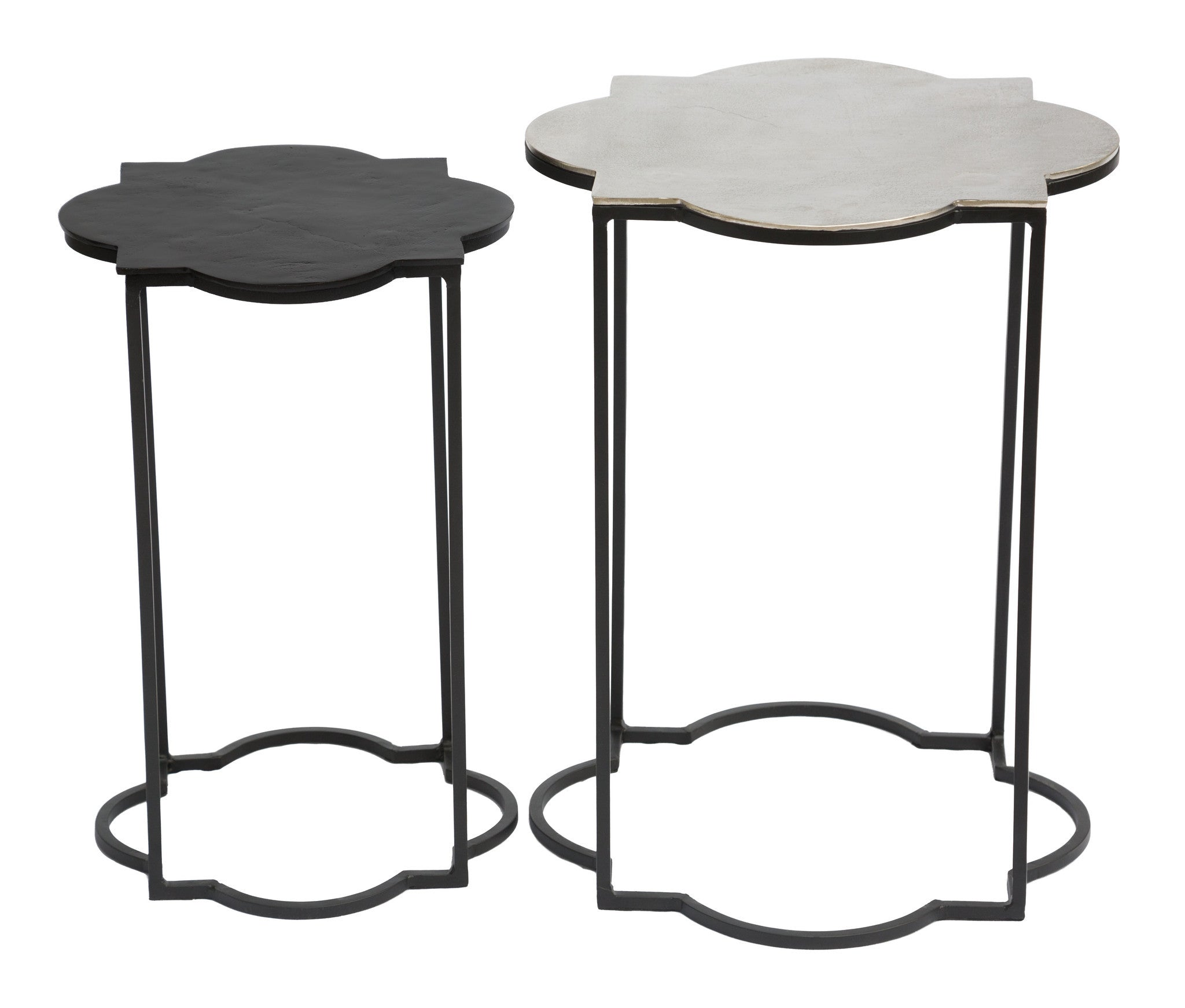 Slim round end table modern accent table with drawer calvin end table -  Brighton Accent Table Set In Black White Side Tables Alan Decor