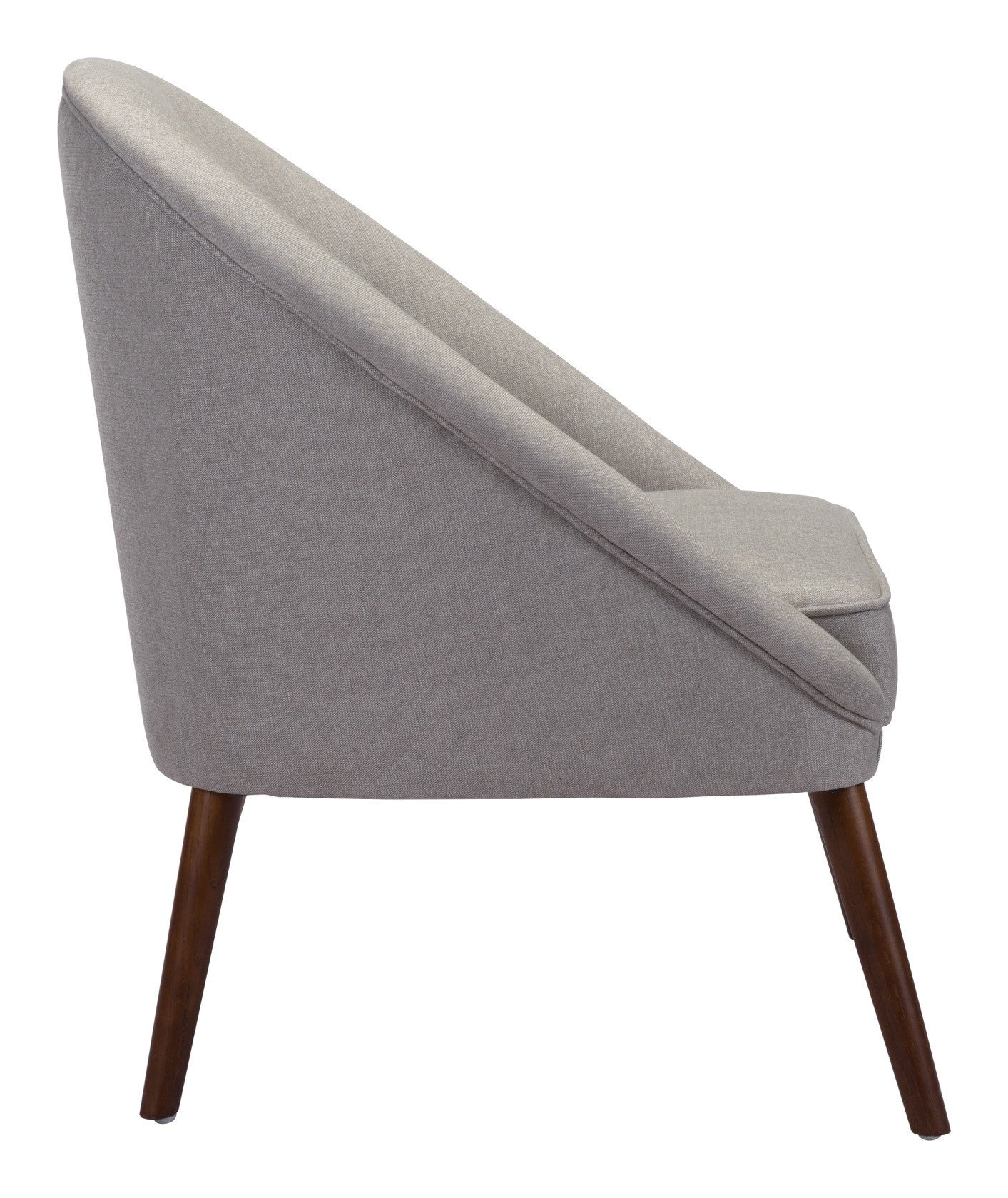 Carter accent chair in light gray linen blend fabric on wood legs accent chairs