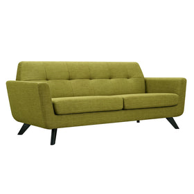 Dania Sofa In Avocado Green Fabric With Black Leg Sofas Alan Decor