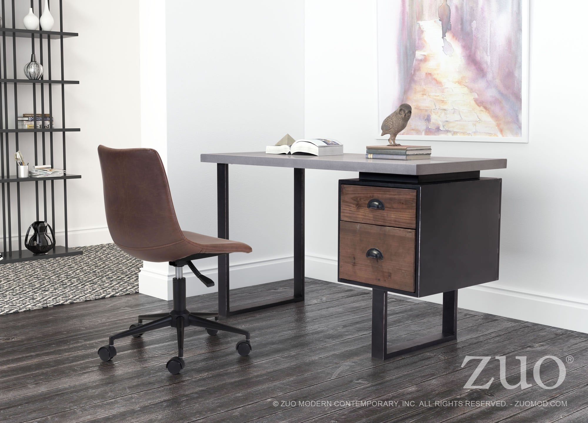Scroll To Previous Item Vintage Industrial Desk Mid