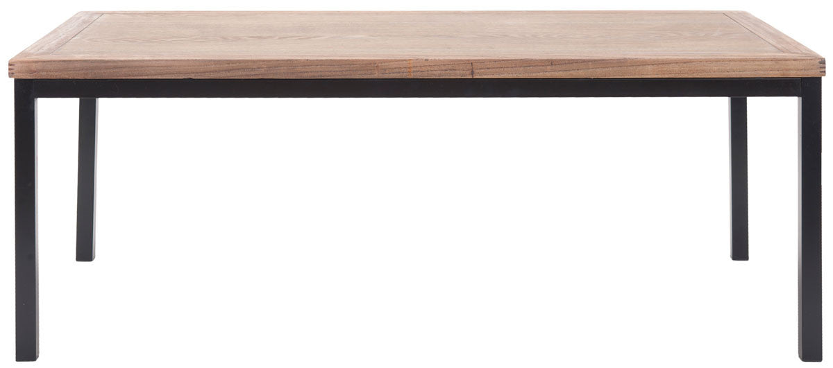 Dennis coffee table with brown elm wood top on iron legs dennis coffee table with brown elm wood top on iron legs coffee tables alan watchthetrailerfo