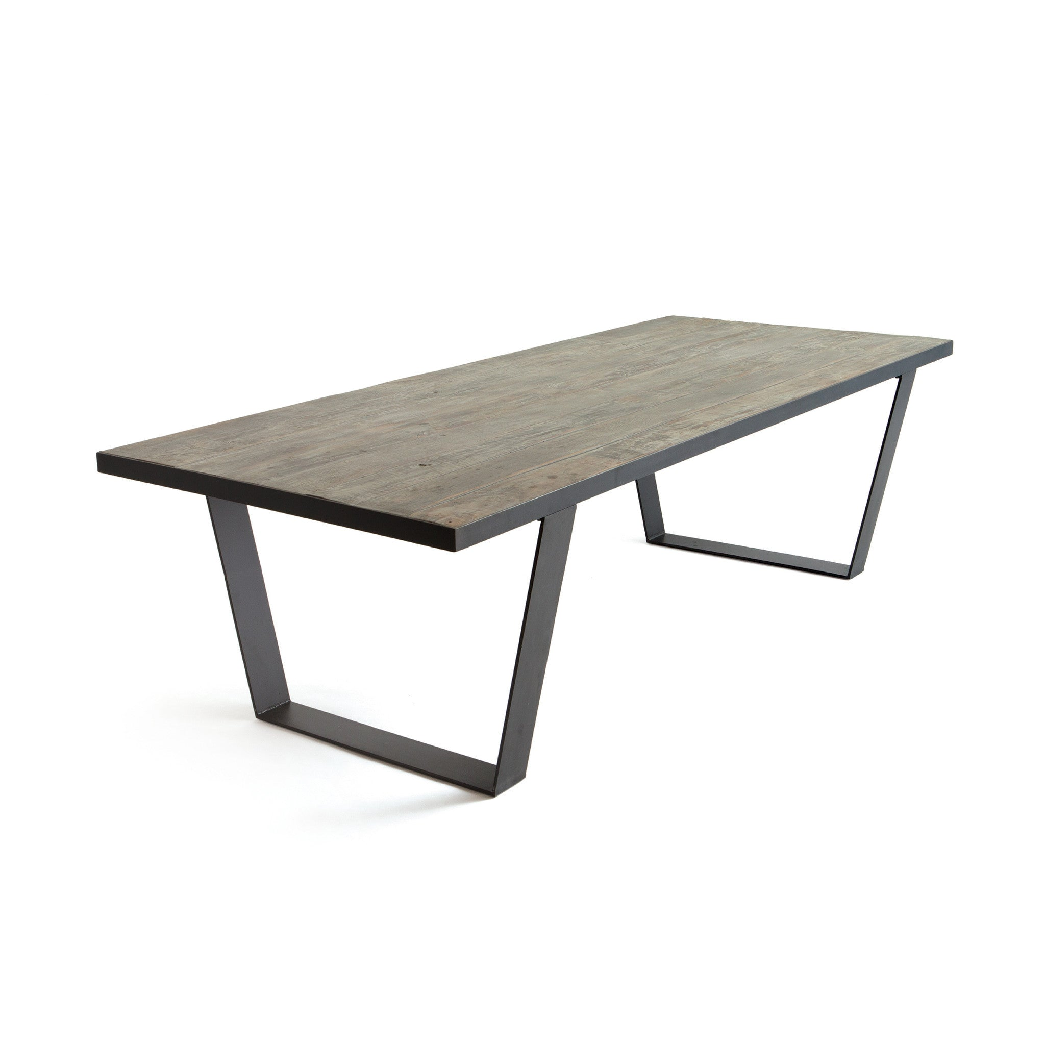metal base dining table. Draper Dining Table With Matte Oak Wood Top On Black Metal Base-Dining Tables- Base