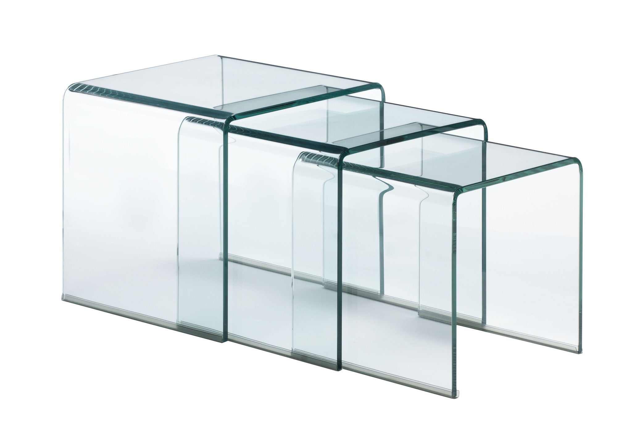 Explorer Nesting Table In Clear Tempered Glass Side Tables Alan Decor ...