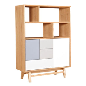 medium bookcase tall of real bookshelf bedroom wood childrens solid amazon wooden natural unfinished storage white shelves headboard with bookcases full size com bookshe and