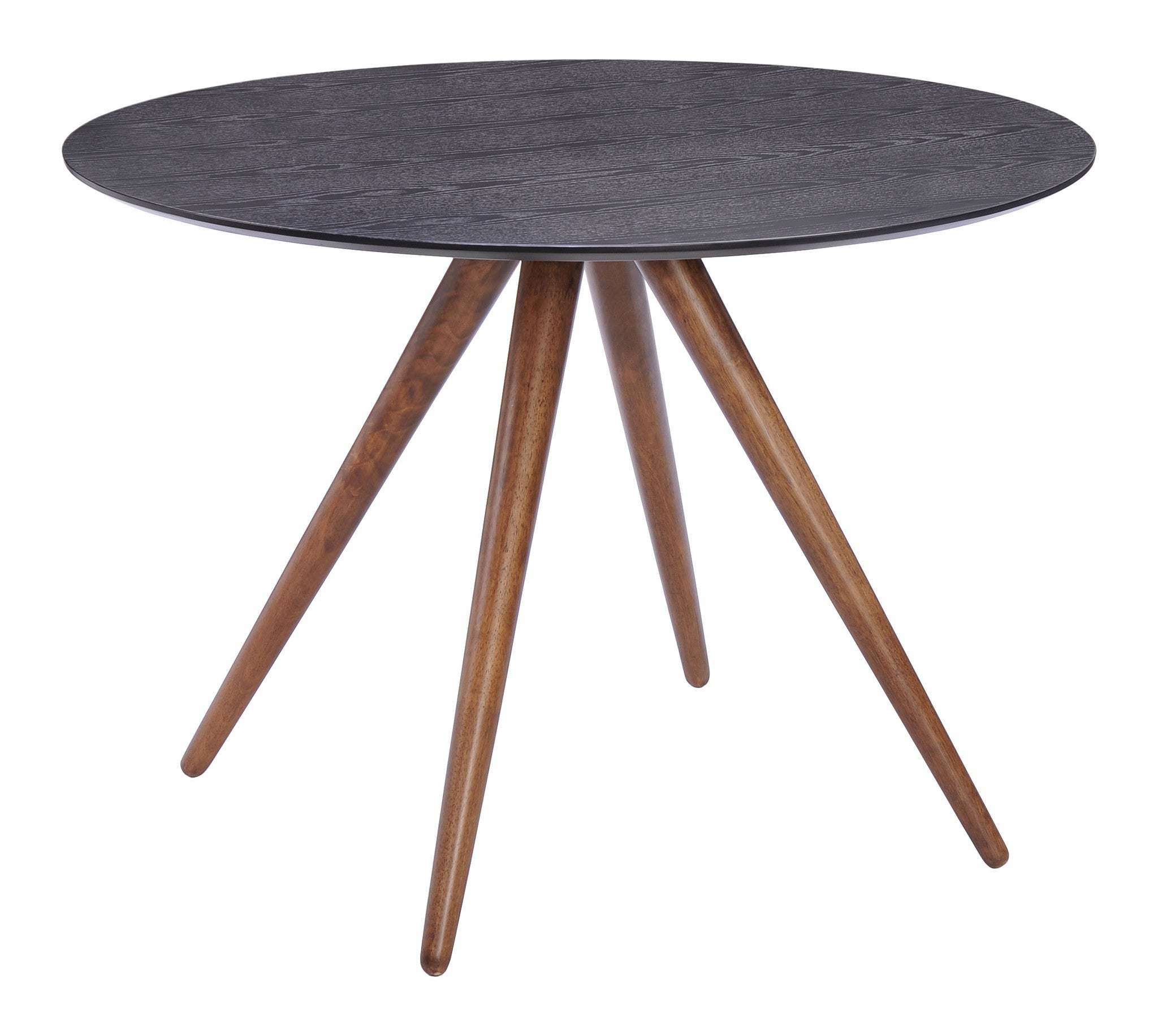 Grapeland Heights Dining Table With Walnut Finish Splayed Legs U0026 Black Wood  Top Dining Tables ...