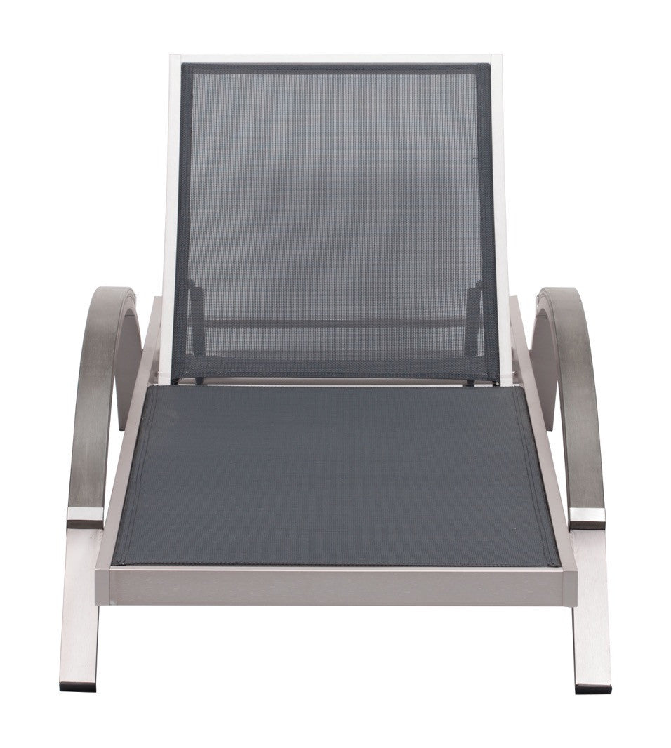 ... Metropolitan Outdoor Chaise Lounge Chair In Brushed Aluminum Outdoor  Lounge Chairs Alan Decor ...