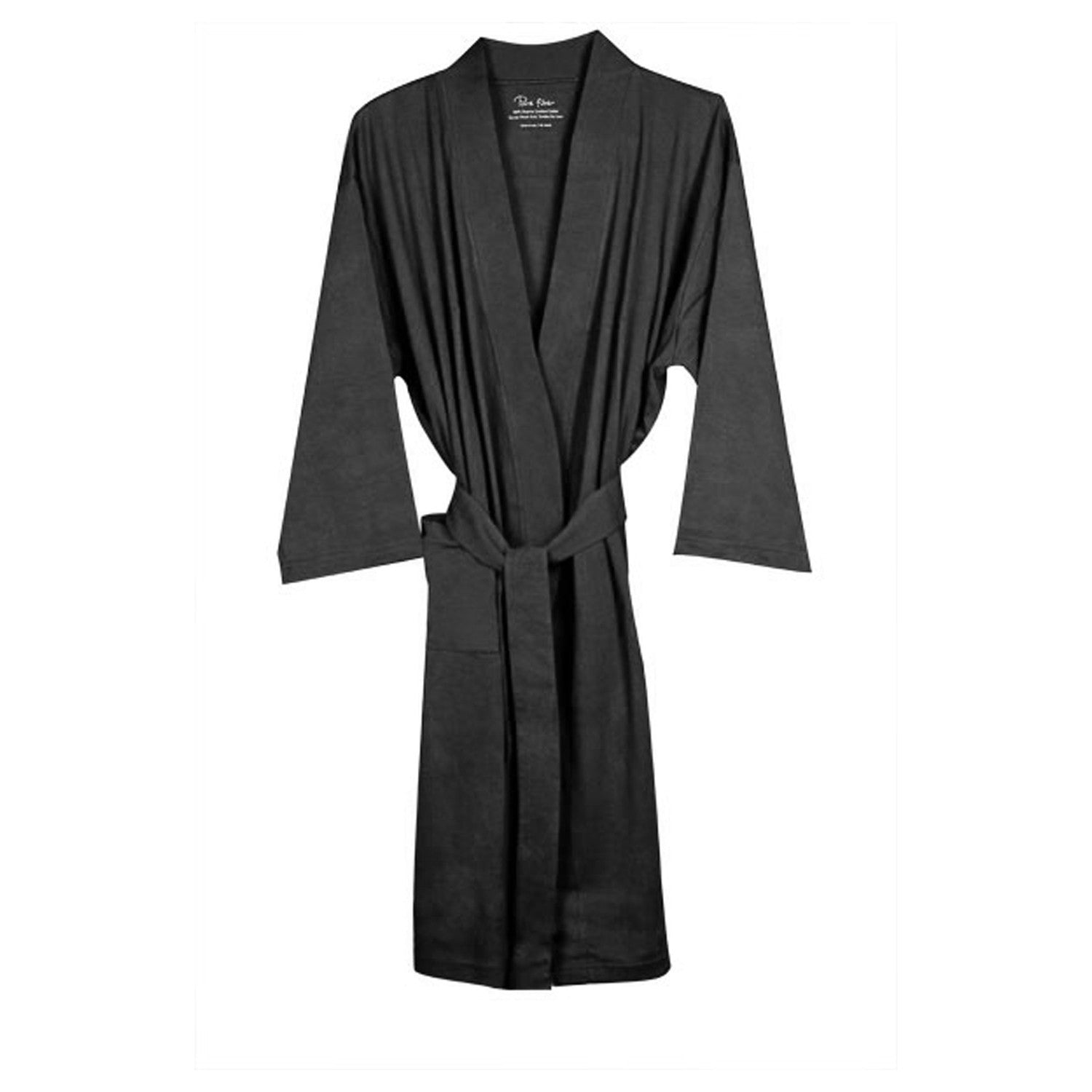 5b3e0f56f7 Organic Cotton Jersey Knit Robe in Gray-Bathrobes-Alan Decor